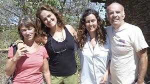 Joyce (far left) and Petter with Ana Zinger and Junia Machado, ElephantVoices Brasil. Photo: ElephantVoices.