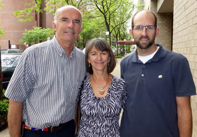 Petter Granli, Joyce Poole and Scott Blais meeting up in New York in early 2013 to discuss a partnership to get an elephant sanctuary in Brasil up and running. Photo: ElephantVoices.